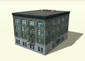 commercial building 3d